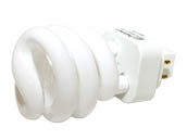 Halco Lighting HAL109692 PL13SP/E/27  (GX24q-1) Halco 13W 4 Pin GX24q1 Warm White Spiral CFL Bulb