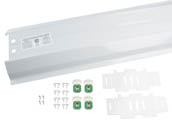 LeanLight KSL-UB04-WA 2-Lamp Low Profile T8 4 Ft. Reflector Strip Retrofit Kit, Shunted Sockets