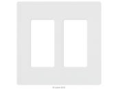 Lutron Electronics CW-2-WH Lutron Claro Screwless 2 Gang Wallplate