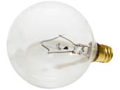 Bulbrite 391160 60G16CL2 60W 120V G16 Clear Globe Bulb, E12 Base