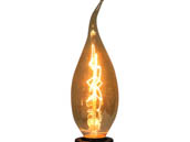 Bulbrite 413115 NOS15CFA 15W 130V Amber Nostalgic Bent Tip Decorative Bulb, E12 Base