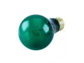 Bulbrite B105425 25A/TG (Transparent Green) 25W 120V Green A19 Transparent E26 Base