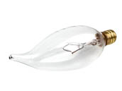 Bulbrite 403560 60CFC/HV 60W 220V Clear Bent Tip Decorative Bulb, E12 Base