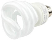 TCP TEC801019-50 80101950K 19W Bright White Spiral CFL Bulb, E26 Base