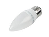 TCP LED5E26B1127KF Dimmable 5W 2700K Decorative Frosted LED Bulb, E26 Base
