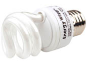 Bulbrite 509206 CF5WW/LM 5W 120V Warm White Spiral CFL Bulb, E26 Base