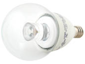 TCP LED4E12G1627K Dimmable 4W 2700K G-16 Globe Clear LED Bulb, E12 Base