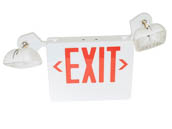 Simkar SK6600272 SCLI2RW-REM 120 to 277V Red LED Exit Sign with Emergency Lights, Remote Capable