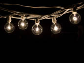 Bulbrite 810051 STRING15/E12/WHITE-G16KT White Commercial Grade Decorative String Lights