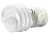 TCP TEC33123SP-41K 33123SP41K 23W Cool White Spiral CFL Bulb, GU24 Base