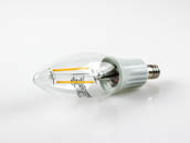 Lighting Science LSPro B11 40WE W27 NDM120FILBX 3 Watt, 25,000 Hour, 120 Volt NON-DIMMABLE Warm White LED Filament Bulb
