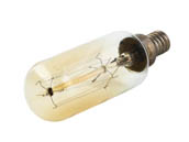 Satco Products, Inc. S2420 40T9/GOLD/9S/E12/120V/Vintage Satco 40W 120V T9 Vintage Decorative Bulb, E12 Base