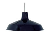 "Nuvo Lighting 76-284 Nuvo 1-Light 16"" Black Pendant Light Fixture"