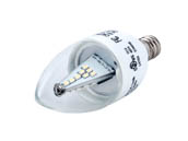 Bulbrite 770404 LED3CTC/E Non-dimmable 3W 2700K Decorative LED Bulb