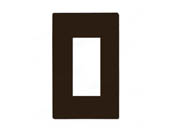 Lutron Electronics CW-1-BR Lutron Claro Screwless Single-Gang Wallplate - Brown