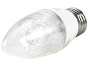 Philips Lighting 457192 4.5B12/LED/827-22/E26/DIM 120V Philips Dimmable Warm Glow 2700K to 2200K 4.5W Decorative LED Bulb