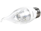 Philips Lighting 458182 4.5BA12/LED/827-22/E26/DIM 120V Philips Dimmable 2700K to 2200K 4.5W Decorative LED Bulb