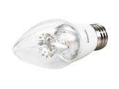 Philips Lighting 458638 7F15/LED/827-22/E26/DIM 120V Philips Dimmable Warm Glow 2700K to 2200K 7W Decorative LED Bulb
