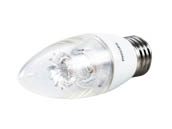 Philips Lighting 458661 7B12/LED/827-22/E26/DIM 120V Philips Dimmable Warm Glow 2700K to 2200K 7W Decorative LED Bulb