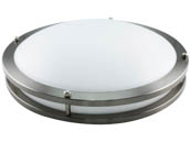 "NaturaLED 7433 LED14FMM-165L830-NI Dimmable 22W 14"" 3000K Flush Mount LED Ceiling Fixture"