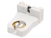 Leviton L13353-N Medium Bi-pin Socket (w/ Nut) Short Medium Bipin Fluorescent Unshunted Socket