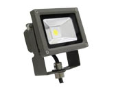 MaxLite 77088 FLS15U50B 100 Watt Quartz Halogen Equivalent, 15 Watt Small LED Flood Light Fixture - Wide Light Distribution