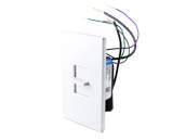 Lutron Electronics NTSTV-DV-WH Lutron Nova-T LED & Fluorescent 0-10 V Single Pole Slide-To-Off Dimmer, White