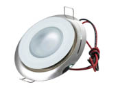 Lumitec Lighting 113117 Mirage Spectrum FMDL Mirage Marine Dimmable Polished Finish with RGBW LED Downlight