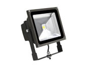 MaxLite 77091 FLS50U50B 250 Watt Equivalent, 50 Watt Small LED Flood Light Fixture - Wide Light Distribution