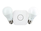 Philips Lighting 455287 Philips Hue White 9.5W A19 E26 Set US Philips Hue White A19 LED Starter Kit
