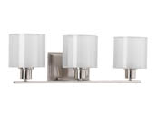 Progress Lighting P2079-09 Brushed Nickel Three-light Bath Fixture