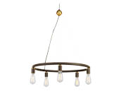 Progress Lighting P4744-20 Three-light Flush Mount Chandelier