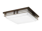 Progress Lighting P3448-2030K9 Two-light LED Square Fixture with Acrylic Diffuser