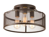 Progress Lighting P3452-20 Three-light Flush Mount