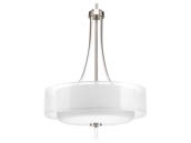 Progress Lighting P5047-09 Brushed Nickel Four-light Pendant
