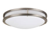 "NaturaLED 7534 LED16FMM-196L840-NI 200 Watt Equivalent, 26 Watt 16"" 4000K Dimmable LED Modern Flush Mount Ceiling Fixture"