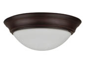 "NaturaLED 7421 LED15FMS-154L830-BZ 150 Watt Equivalent, 22 Watt 15"" 3000K Dimmable LED Streamlined Flush Mount Ceiling Fixture"