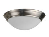 "NaturaLED 7428 LED15FMM-154L840-NI 150 Watt Equivalent, 22 Watt 15"" 4000K Dimmable LED Streamlined Flush Mount Ceiling Fixture"