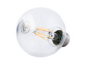 Satco Products, Inc. S9564 6.5G25/CL/LED/E26/27K/120V Satco Dimmable 6.5W 2700K G25 Filament LED Bulb, Enclosed Fixture Rated