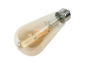 Satco Products, Inc. S9578 4.5ST19/AMB/LED/E26/23K/120V Satco Dimmable 4.5W 2000K Vintage ST19 Filament LED Bulb, Enclosed Fixture Rated