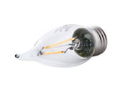 Satco Products, Inc. S9571 2.5W EFC/LED/27K/120V Satco Dimmable 2.5W 2700K CA11 Decorative Filament LED Bulb, Enclosed Fixture Rated