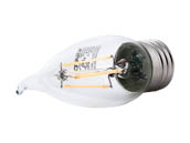 Satco Products, Inc. S9573 4.5W EFC/LED/27K/120V Satco Dimmable 4.5W 2700K CA11 Decorative Filament LED Bulb, Enclosed Fixture Rated