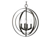Progress Lighting P3827-20 Four-light Sphere Candelabra Pendant