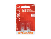 Sylvania 32554 168LL.BP2  2/SKU  20/BX  200/CS 168 Long Life Interior, Exterior Auto Light