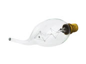 Satco Products, Inc. S2418 25CFC/7S/120V /Vintage Satco 25W Amber Filament Nostalgic Bent Tip Decorative Bulb, E12 Base