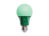 Satco Products, Inc. S9643 2A19/LED/GREEN/120V Satco Non-Dimmable 2W Green A19 LED Bulb, Enclosed Rated