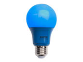 Satco Products, Inc. S9644 2A19/LED/BLUE/120V Satco Non-Dimmable 2W Blue A19 LED Bulb, Enclosed Rated