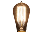Fashion Lighting 607167 NOS60-1910/FL 60W 120V ST18 Thread Filament Nostalgic Decorative Bulb, E26 Base
