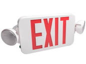 Fulham FHEC30WR FHEC30-WR Firehorse LED Dual Head Exit/Emergency Sign With LED Lamp Heads, Red Letters