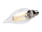 Bulbrite 776659 LED4CA10/27K/FIL/E12/2 Dimmable 4.5W 2700K Decorative Filament LED Bulb